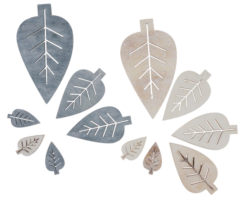 Holz streuteile bl tter creme braun grau vbs hobby for Tafelfarbe grau