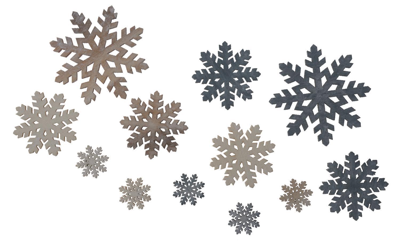 Holz streuteile schneeflocken creme braun grau vbs for Tafelfarbe grau