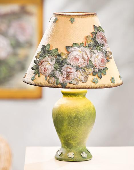 Lampe mit Motiv Strohseide im Landhaus Stil | VBS Hobby