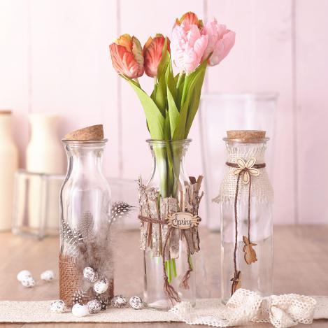 Glasflaschen Tischdeko Fur Fruhling Und Ostern Vbs Hobby Bastelshop