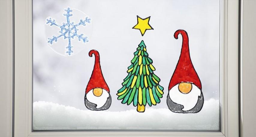 fensterbilder weihnachten malen  weihnachtsmotiv