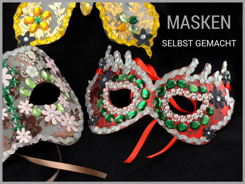 venezianische masken selber machen vbs hobby
