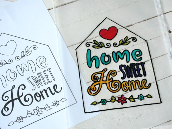 "DIY-Türschild ""Home Sweet Home"""