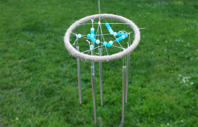 Windspiel basteln schriff f r schritt anleitung vbs hobby - Gartendeko mit kindern basteln ...
