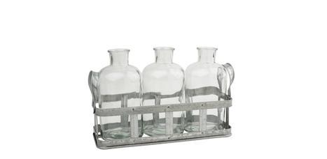 """VBS Glasflaschen /""""Milk/"""" Ø ca 3er-Set 6 cm x 20 cm"""