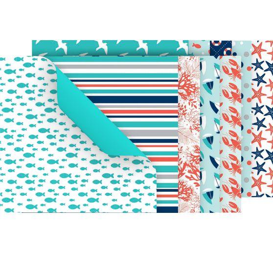 Faltpapier-Sortiment Am Meer 60 Blatt
