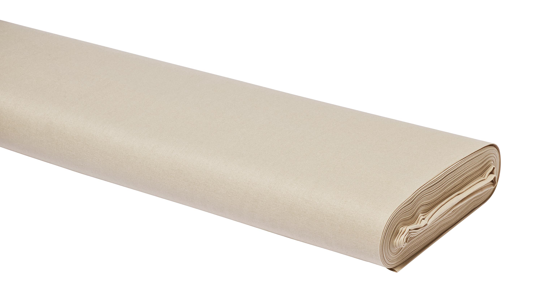 """Baumwoll-Stoff Uni /""""Sand/"""" 147 cm breit Meterware"""