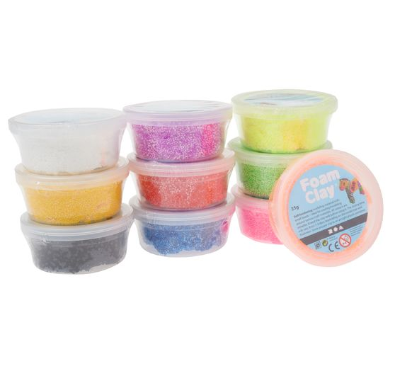 Foam Clay-Sortiment, sortiert, 10x35g